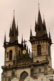 Prague town hall. Old Prague town hall located on the old-town square near Kafka museum Stock Photo