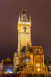 Prague town hall in the night Royalty Free Stock Photography