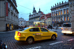 Prague taxi Stock Image