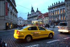 Prague taxi stock image