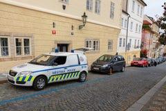 Prague Trafikpolisen Royaltyfri Bild
