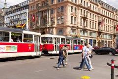 Prague Tram Royalty Free Stock Photo