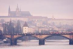 Prague tram stock image