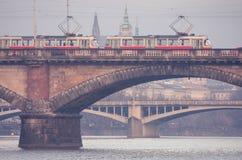 Prague tram Royalty Free Stock Image