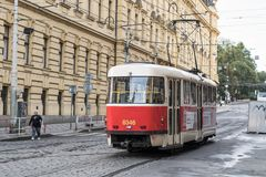 Prague tram stock images