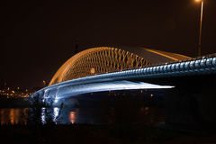 Prague Troja bro Arkivfoton