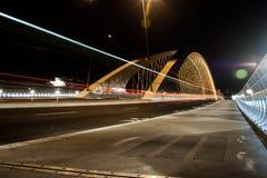 Prague Troja bro Arkivfoto