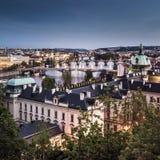 Prague at twilight Royalty Free Stock Photos