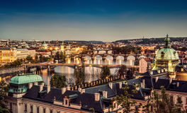Prague at twilight Royalty Free Stock Image