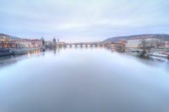 Prague at Twilight Stock Photos