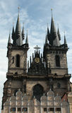 Prague Tyn Cathedral. In Czech Republic Stock Images