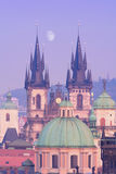 Prague - tyn church Stock Image