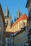 Prague. Tyn Church. Royalty Free Stock Photo