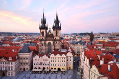 Prague. Tyn Church of Our Lady, 12 century Royalty Free Stock Images