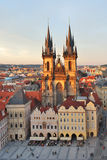 Prague. Tyn Church of Our Lady Stock Image
