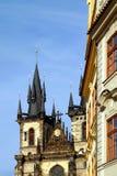 Prague Tyn Church. Stock Photo