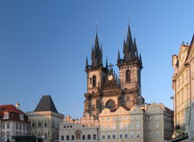 Prague - Tynsky chram gothic church Royalty Free Stock Images