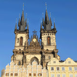 Prague,Tynsky church Royalty Free Stock Photos