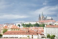 Prague under cloudscape Stock Photography