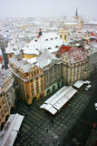 Prague under snow. Stock Photos