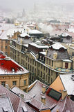 Prague under snow. Stock Photography