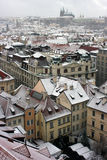Prague under snow Royalty Free Stock Images