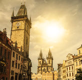Prague under sunlight. Royalty Free Stock Image