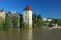 Prague under water Stock Photos