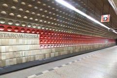 Prague underground, Czech Republich Royalty Free Stock Image