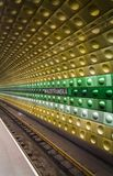 Prague underground subway, Malostranska station. Stock Image
