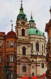 Prague urban scenic with churches and domes Stock Images