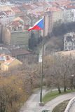 Prague  from Vítkov hill Stock Image