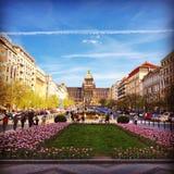 Prague vår Arkivbild