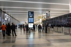 Prague Vaclav Havel Airport Terminal 1 Images libres de droits