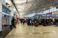 Prague Vaclav Havel Airport Terminal 1 Image stock