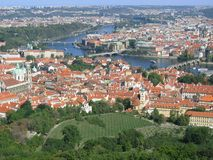 Prague view. From hill, Czehia Royalty Free Stock Photos