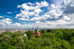 Prague view from above Royalty Free Stock Photography