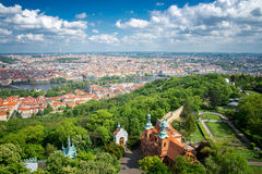 Prague view from above Stock Photo