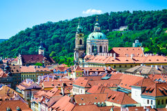 Prague. View from above of Prague in a sunny day Royalty Free Stock Images