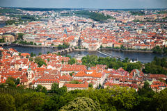 Prague view from above. Top view of old city in Prague Stock Photography