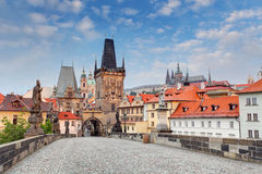Prague View from Charles Bridge Stock Photo