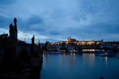 Prague View Charles Bridge Royalty Free Stock Photo
