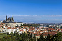 Prague view. City ​​view from the Prague Castle Stock Image