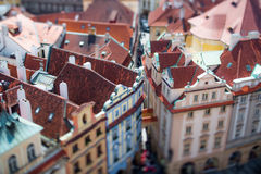 Prague view of the city from above. Royalty Free Stock Photo