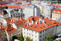 Prague view of the city from above. Royalty Free Stock Images
