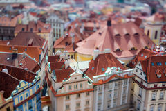 Prague view of the city from above. Stock Photo