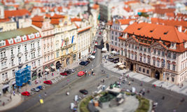 Prague view of the city from above. Royalty Free Stock Image