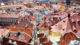 Prague view of the city from above. Stock Photos