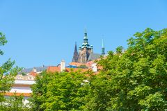 Prague view, Czech Republic. Famous panorama of Prague Castle, Czech Republic Stock Photography