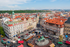 Prague. The view from the height on the main square of Prague Royalty Free Stock Photos